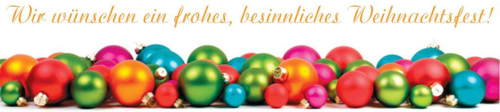 Wir wünschen ein frohes, besinnliches Weihnachtsfest! (Bild: (c) Petra Bork / www. pixelio.de)
